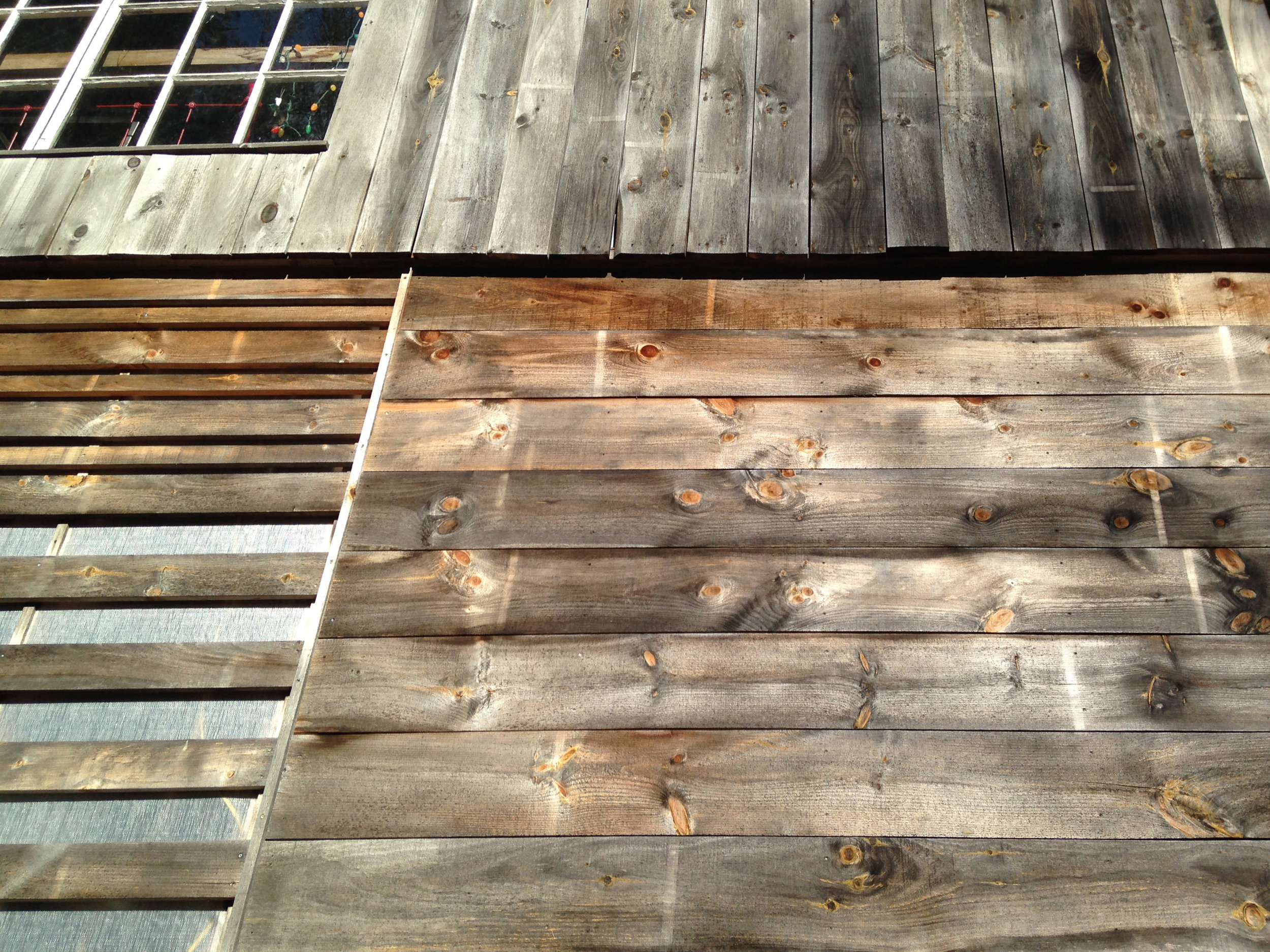 white pine siding on a barn robert Swinburne Vermont Architect