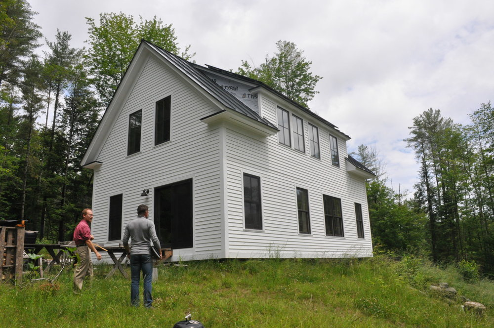 Owner Built Super-Insulated, timber frame cape in VT