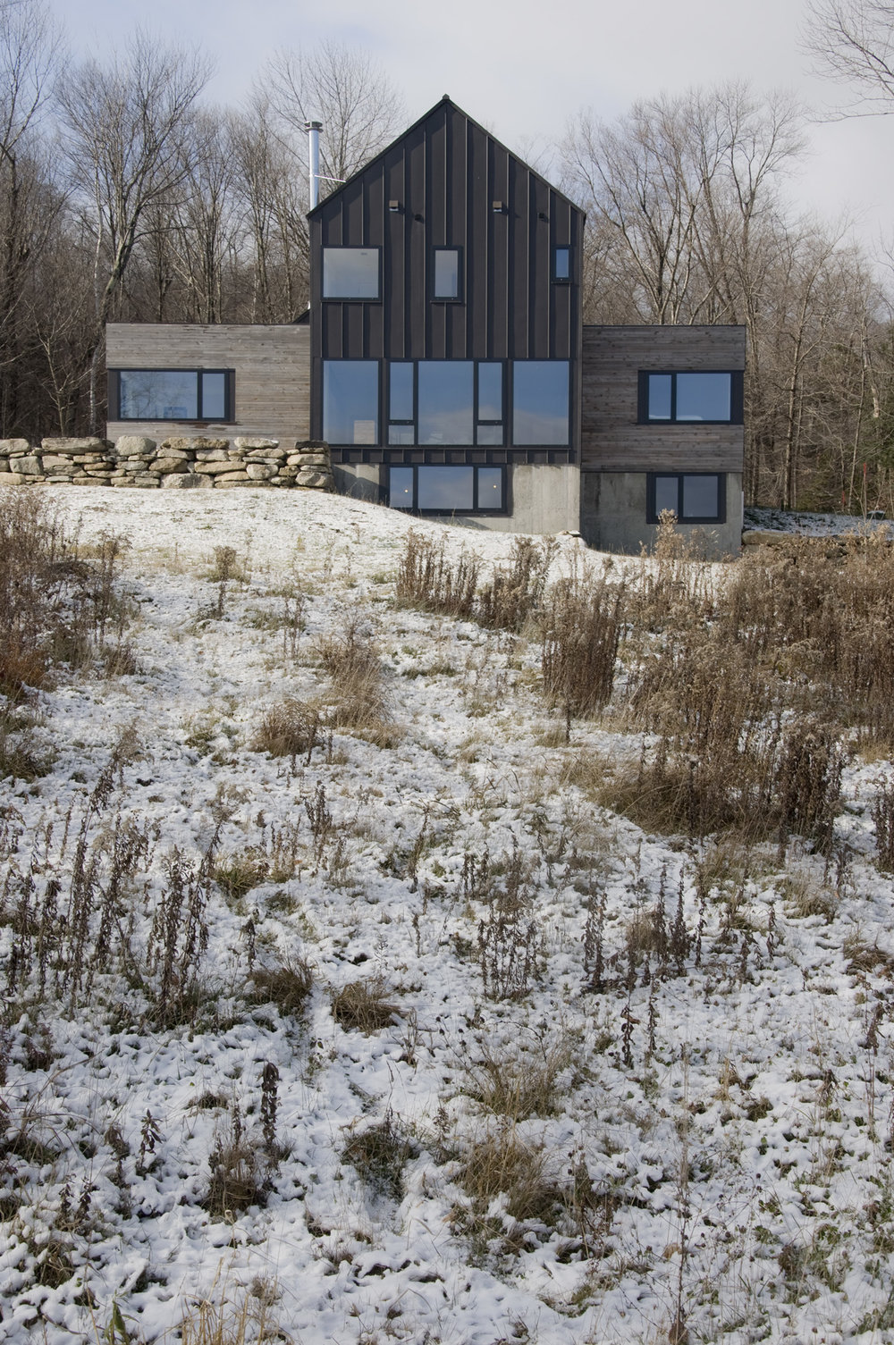 Strong Vermont Modern Ski Home