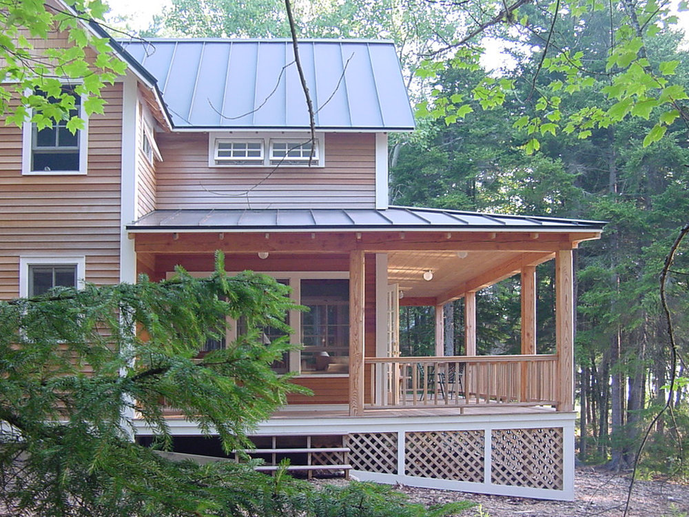 expansive country porch