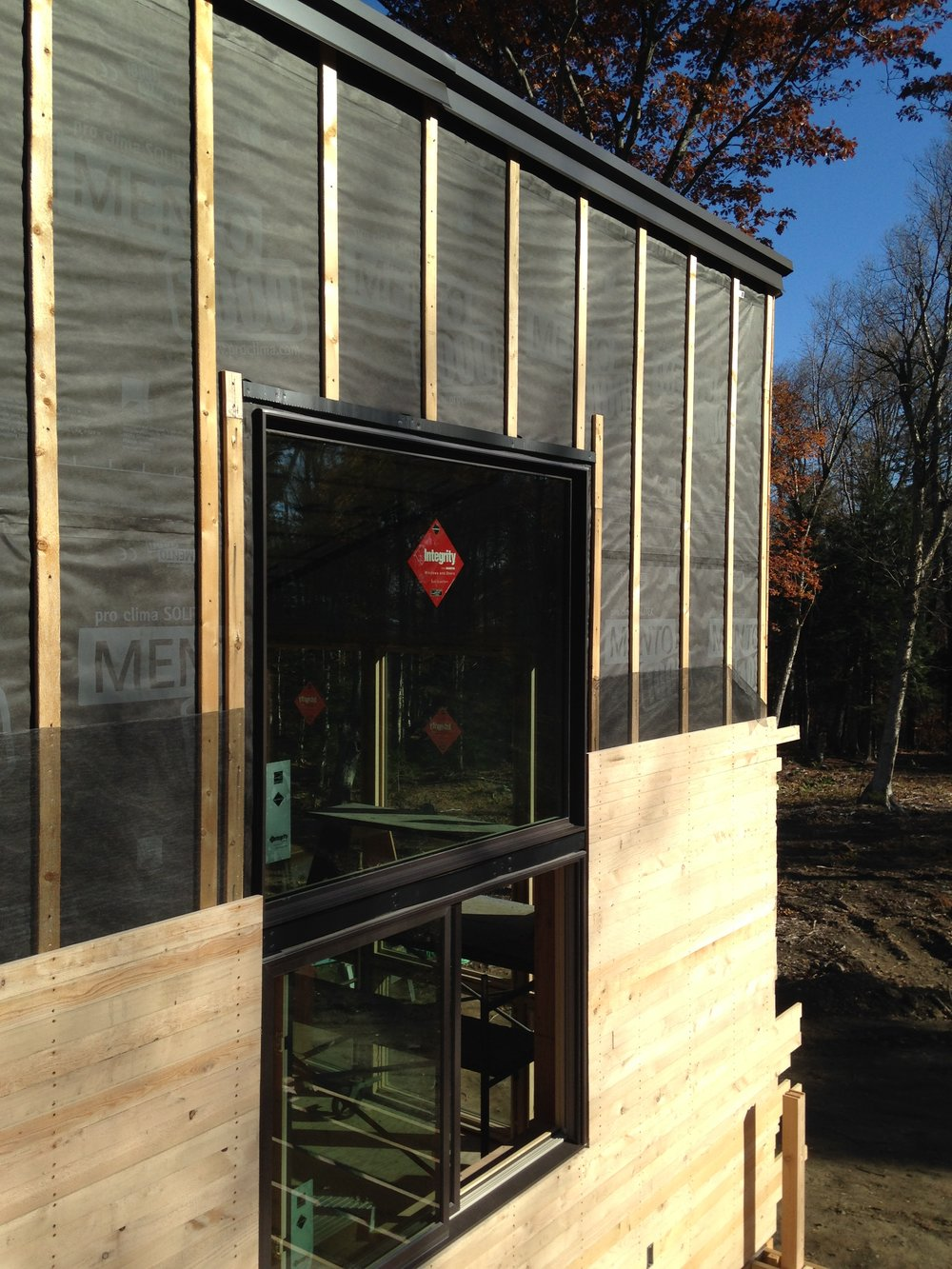 Installation over rainscreen and Mento weather resistant barrier from  FourSevenFive.com