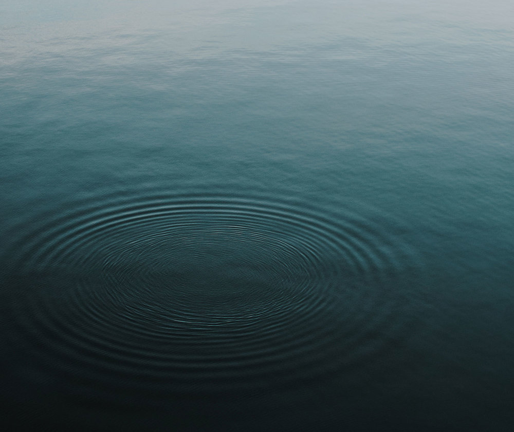 Gentle ripples on the water