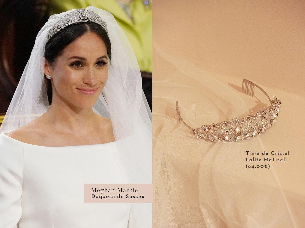 Tiara de novia inspirada en Meghan Markle. La boda Real de Harry y Meghan.
