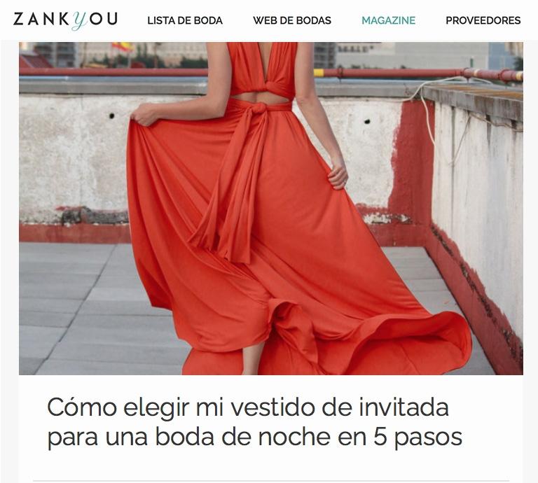 Cómo elegir mi vestido de invitada para una boda de noche en 5 pasos. Zankyou España recomienda Lolita Mctisell para tu look de invitada de noche