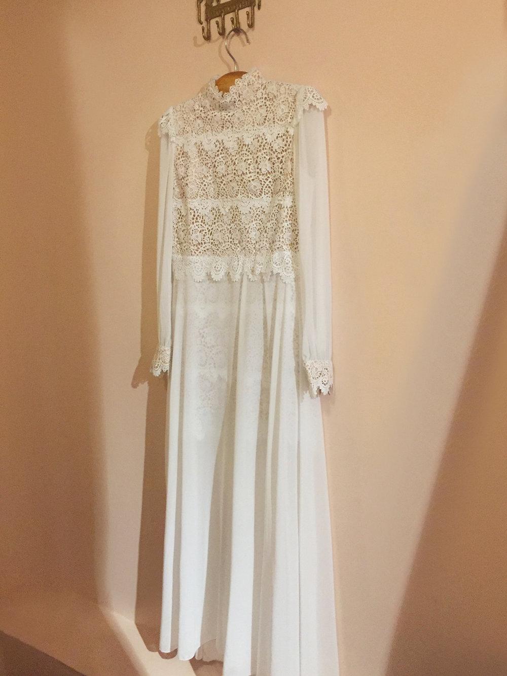 Vestido de novia Boho con encaje inspirado en Chiara Ferragni