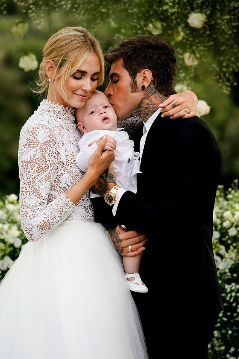 Boda de Chiara Ferragni y Fedez junto a su hijo Leo