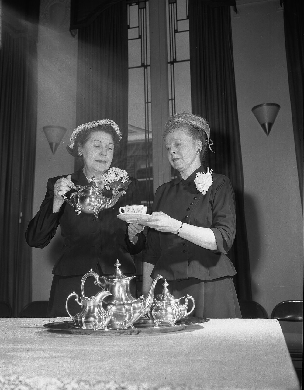 """Annual """"Blue Tea"""" celebration. Photograph by Borge B Andersen for the Salt Lake Tribune. Year unknown."""
