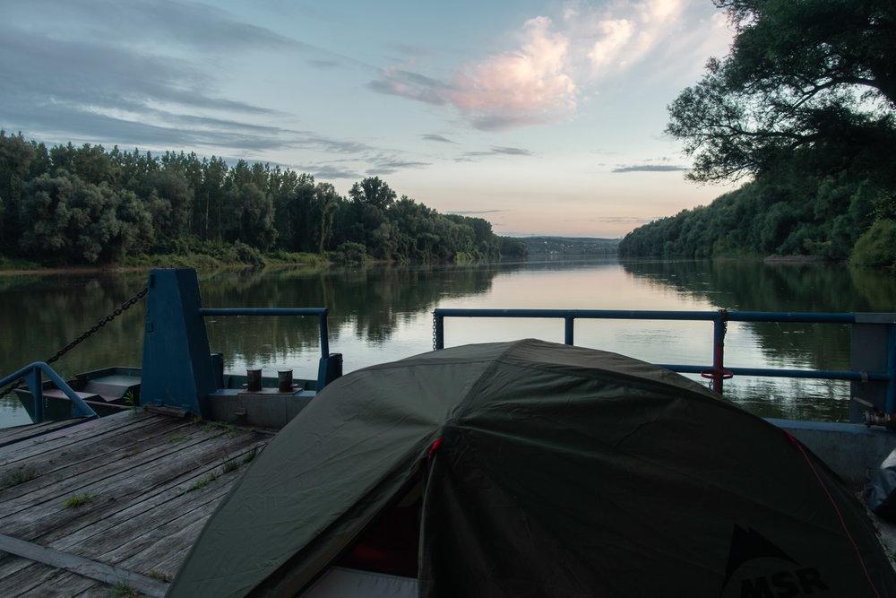 Barge camping