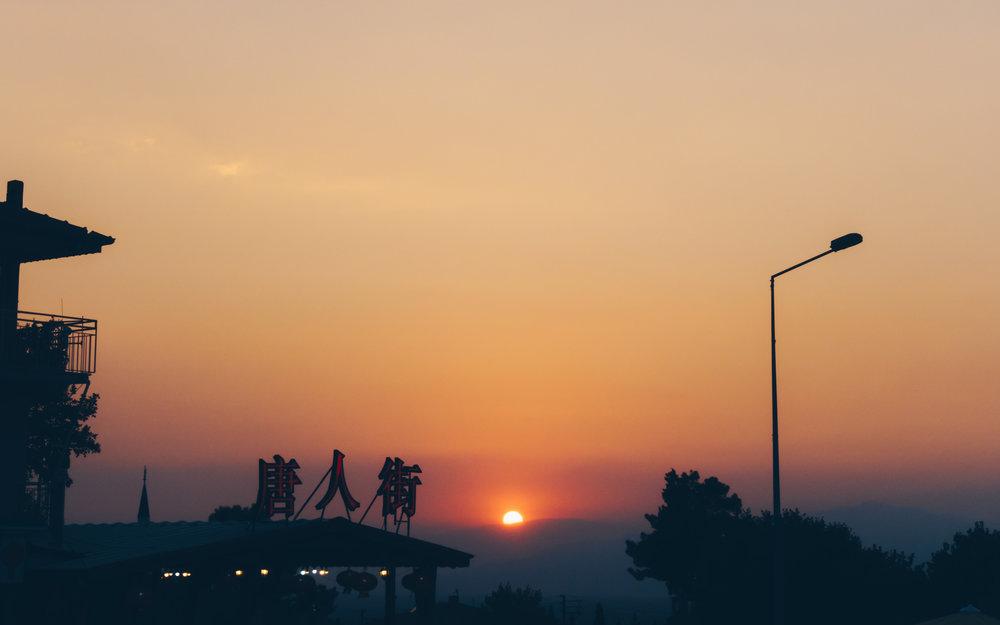 Sunset over Pamukkale…not China.