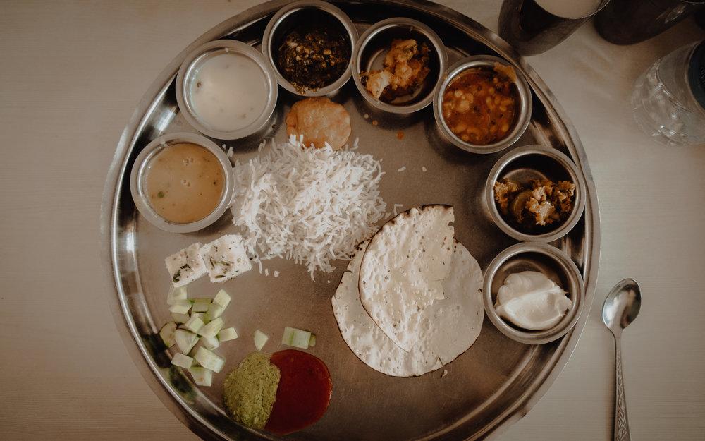 Veg Thali, Natraj Dining Hall