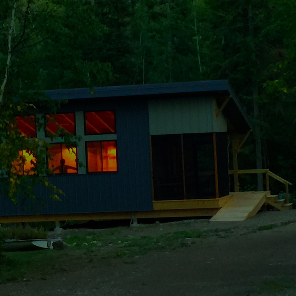 The Doodle - Our visual artist studio, with desks and countertops for art projects, with printer, office, and art supplies, nestled in the woods.