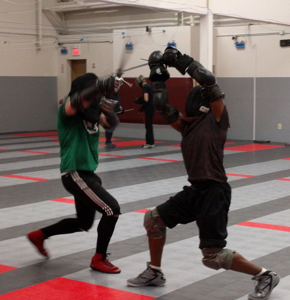 Advanced light gear sparring