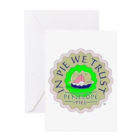 """In Pie We Trust"" Greeting Cards"