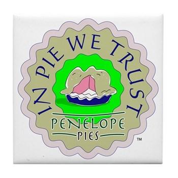 """In Pie We Trust"" Tile Coaster"