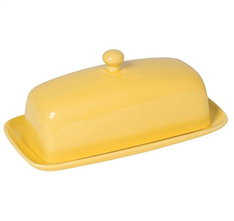 Now Designs Butter Dish, Lemon