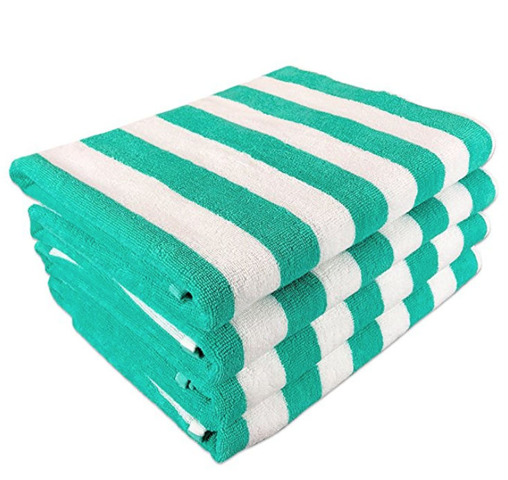 California Cabana Striped Oversized Beach Towel