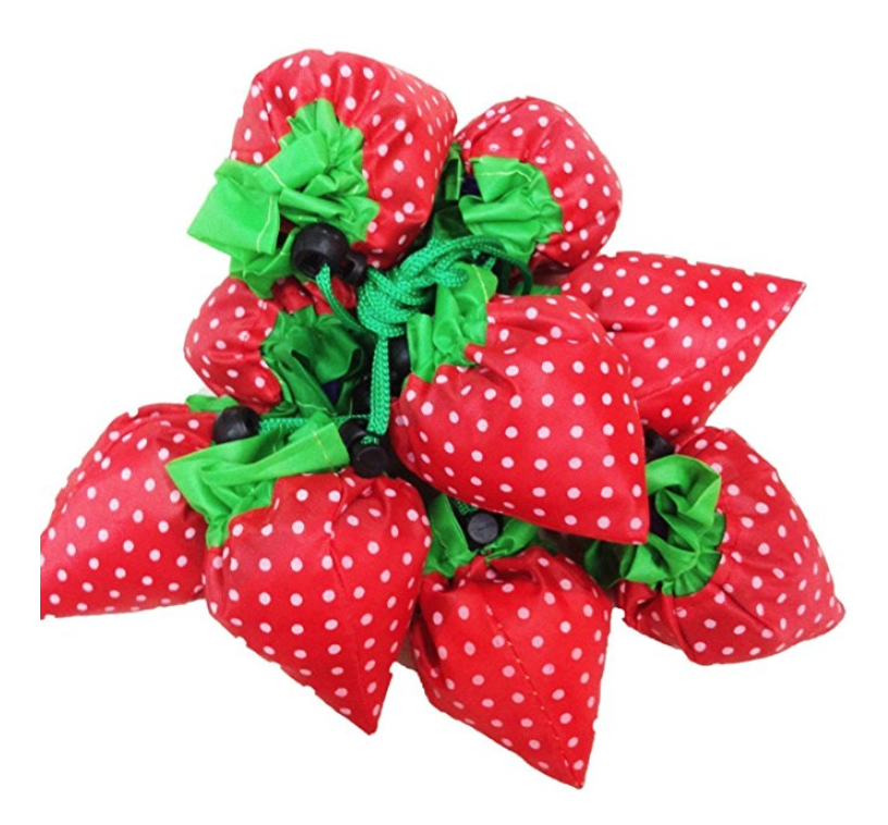 DGQ Strawberry Reusable Grocery Bags