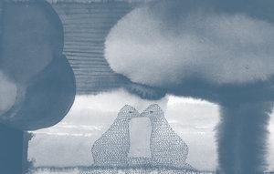 9e6f1b73f0f6 Glenn -Lovers (After the Storm).jpg. Glenn Goldberg Risograph
