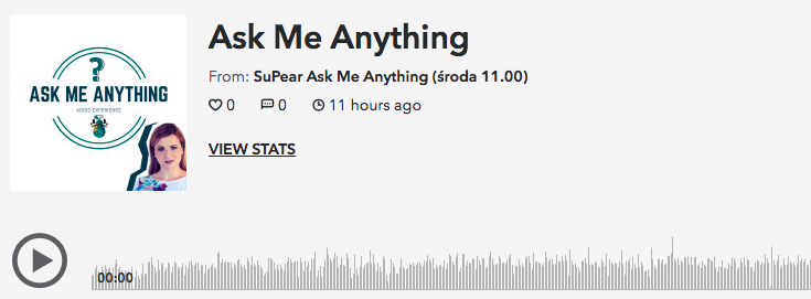 Ask Me Anything w wersji audio.
