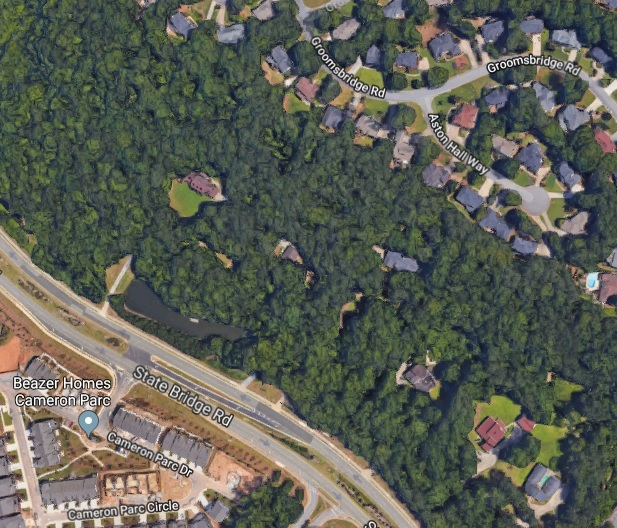 The current highly wooded area will be clear-cut resulting in canopy loss and more impervious surface area