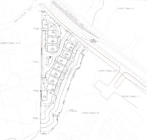 Site plan for the 12 proposed homes