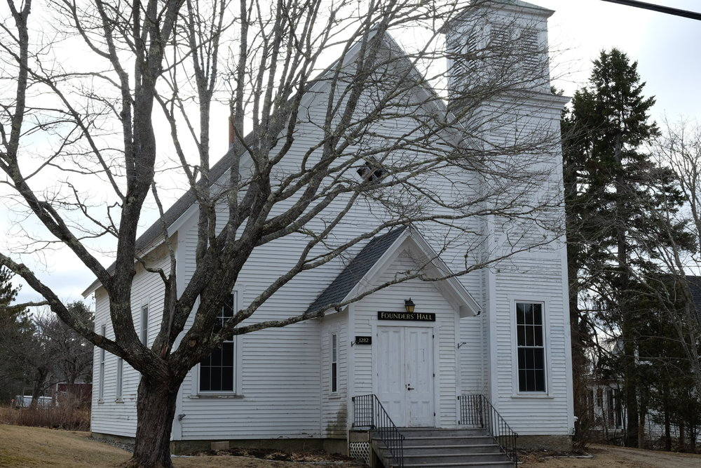 - Founders Hall (the East blue Hill Baptist Church)
