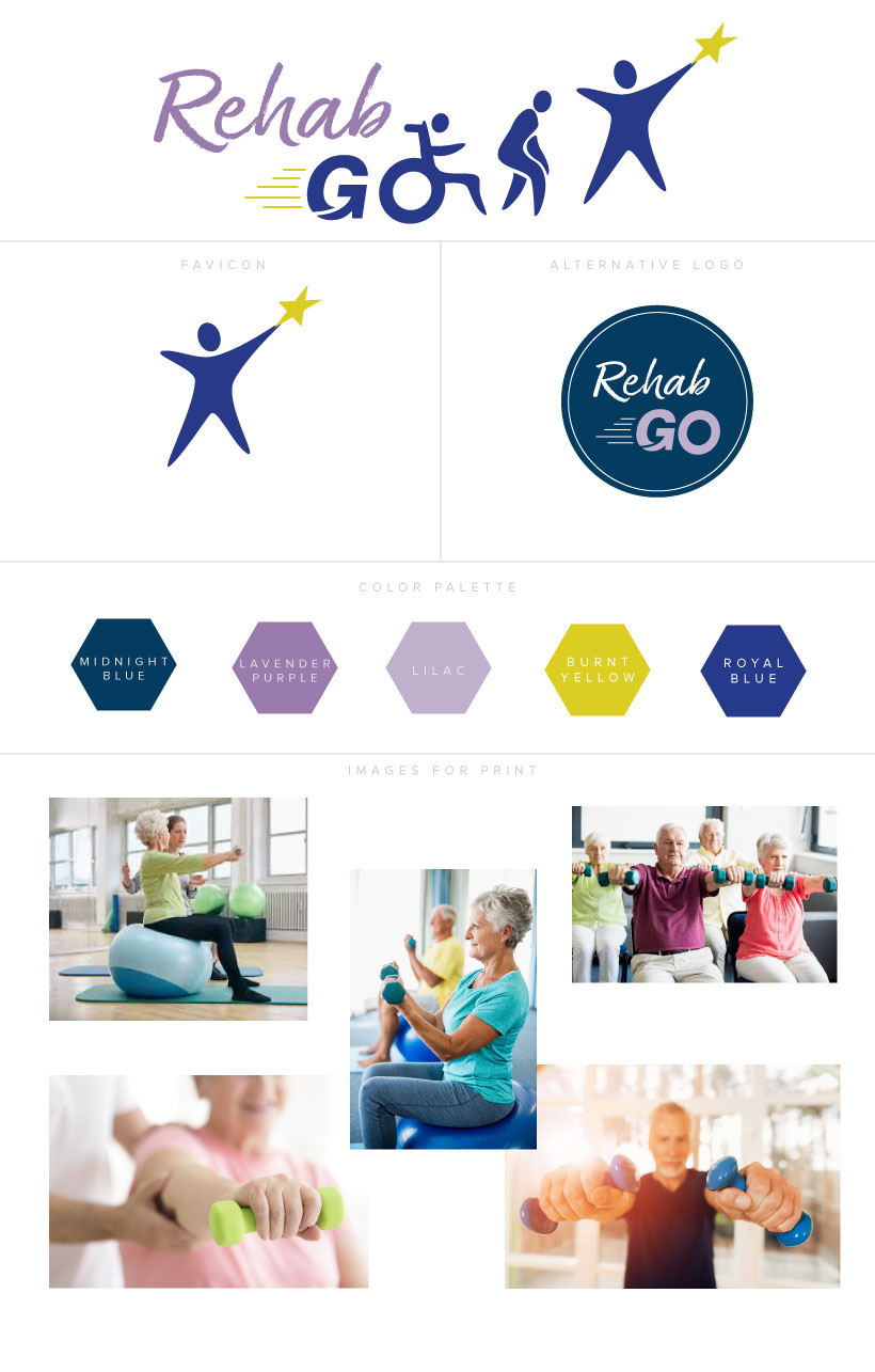 Branding elements for RehabGO