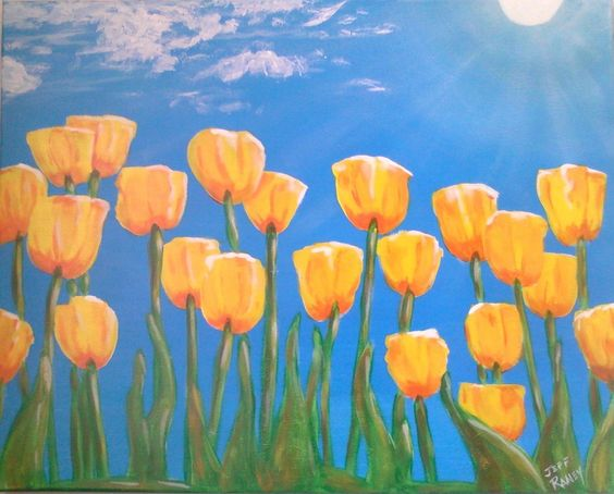 Happy Spring!  Includes all materials and a 16x20 canvas.   $30 per person