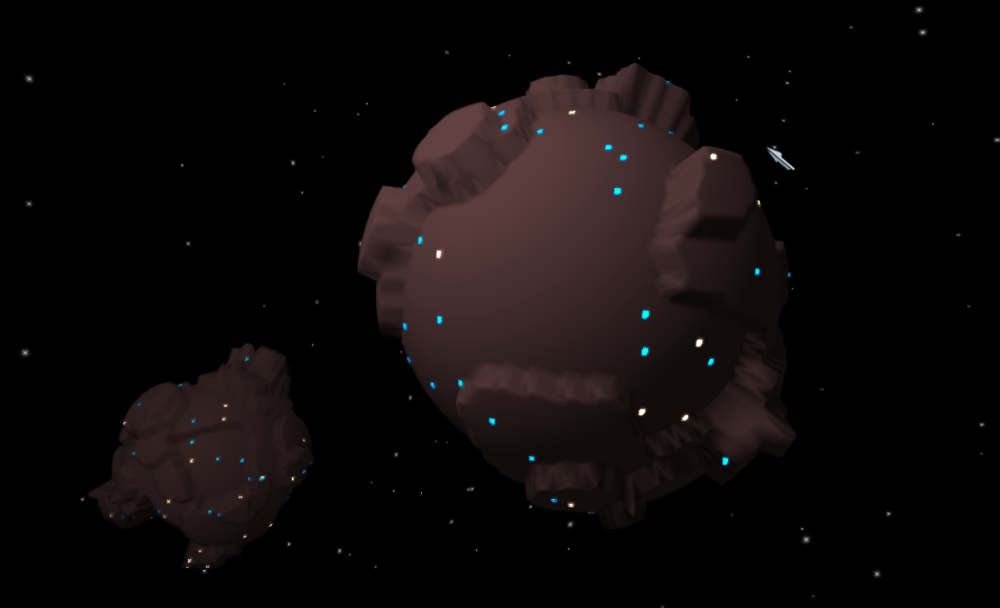 Alpha screenshot of bare planets