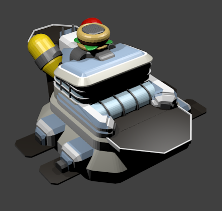 A Blender render of the Burger Joint from Zero Sum Future.