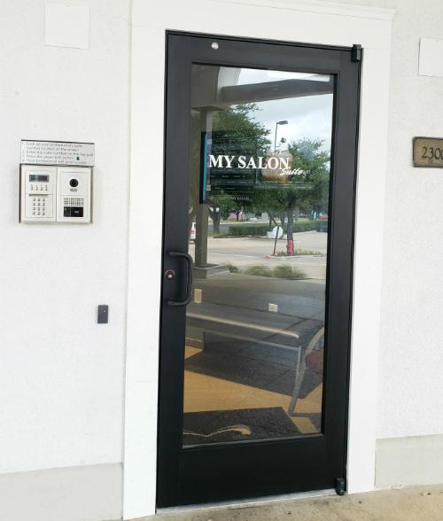 Front door, buzz me at suite #107