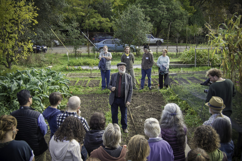 John Jeavons - Director of the non‐profit Ecology Action, author, educator, agricultural researcher and master farmer, John Jeavons has spent the last 43 years developing and teaching a truly sustainable closed‐system/complete‐diet, organic food‐and‐soil production model that can be used by people in any climate and soil where food is grown.   His GROW BIOINTENSIVE Sustainable Mini‐Farming method is being used in 152 countries around the world, and enables small farmers to increase yields, build fertile soil up to 60x faster than nature, and use 66% less water per pound of food, compared with conventional practices.   John believes that each person has the capacity to make a profound difference in the sustainability of our agriculture and through it, our world; and that if we each learn to take care of our part of the Earth – our garden – then we can change our situation from one of scarcity to abundance: of enough for everyone.