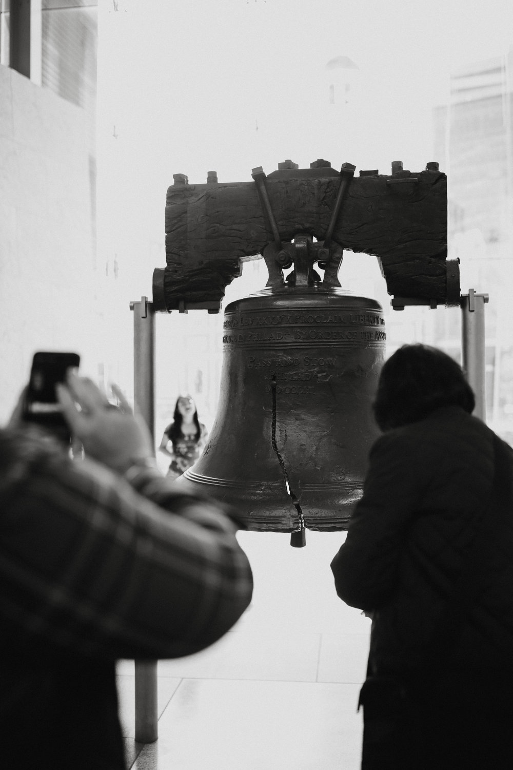 """- you guys probably know by now that i love history which is why i had to see the liberty bell while i was there. it was a little smaller than i thought it would be but i think that happens with a lot of historic things (hello plymouth rock).. the only exception i can think of is the """"big piece"""" of the titanic that is on display at the museum in vegas. yes there is a titanic museum in vegas and yes you should go see it.while i was there i took a step back and realized how interesting it is to how see people experience and take in historical monuments and museums and things like that.."""