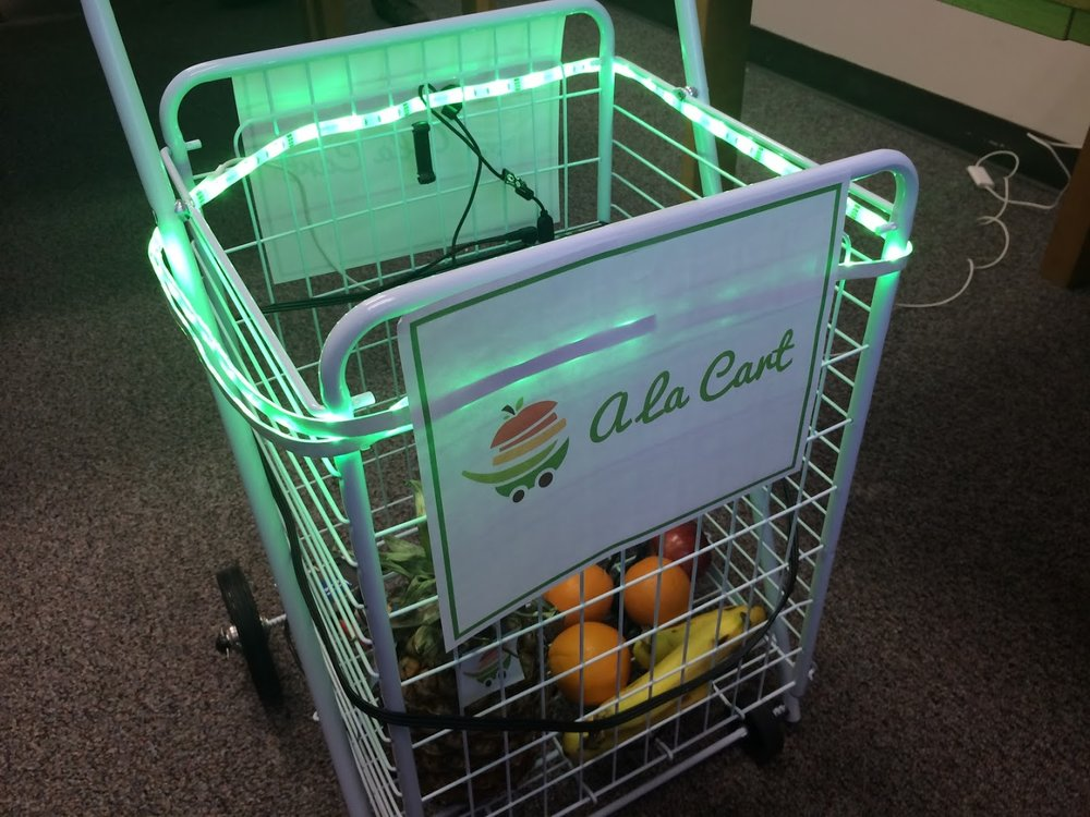 Smart shopping cart prototype