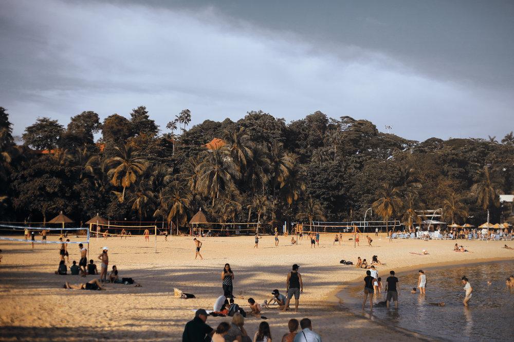 beach Sentosa in singapore