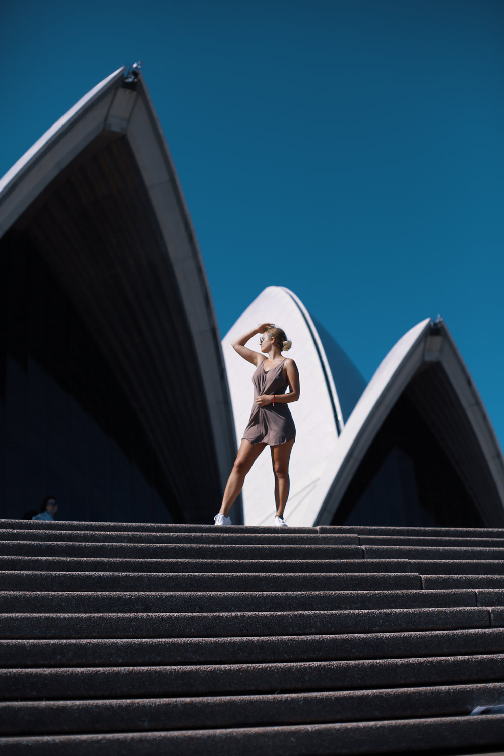 opera house in Sydney with a model