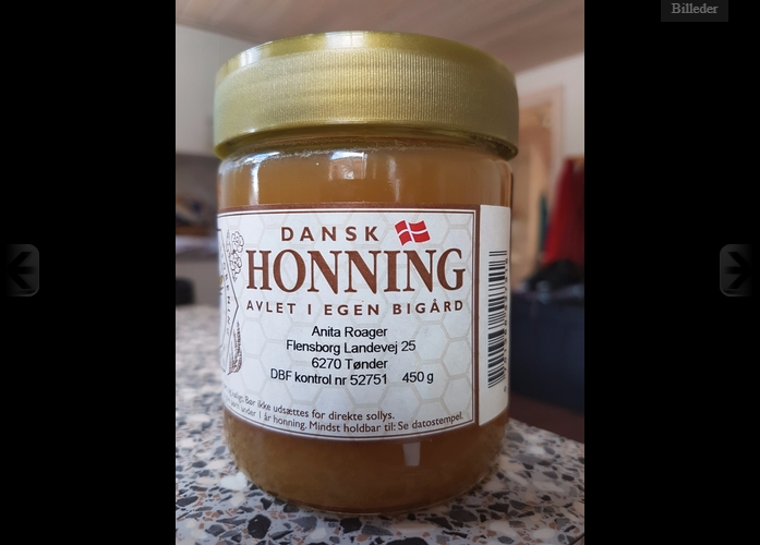 Honning glas med 450 gram (glas)