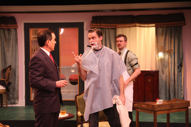 Featuring Shawn Douglass as Ed Devery, (right) Sean M. Sullivan as Harry Brock (middle), and Drew Schad as Barber