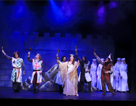 Featuring the company of Monty Python's Spamalot