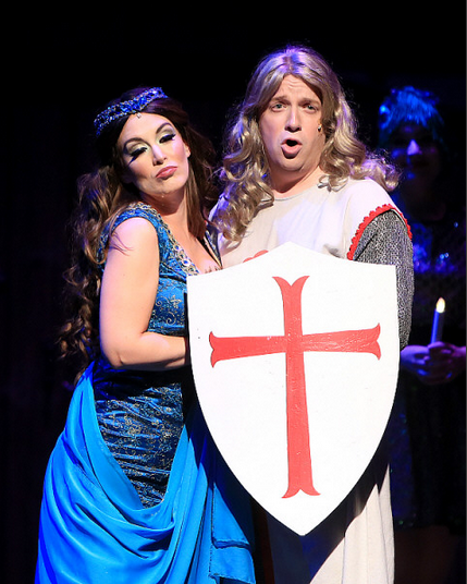 Featuring Jackie Schmillen as The Lady of the Lake (left) and Charlie Reese as Sir Galahad (right)