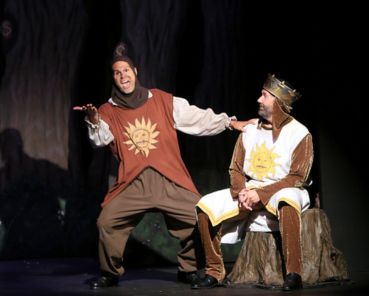 Featuring Brett Spahr as Patsy (left) and Kent Fieldsend as King Arthur (right)