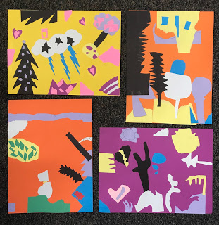 Tom Abbiss Smith inspired work, third grade.