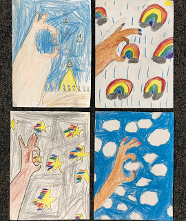 Zagnolia inspired project by second graders