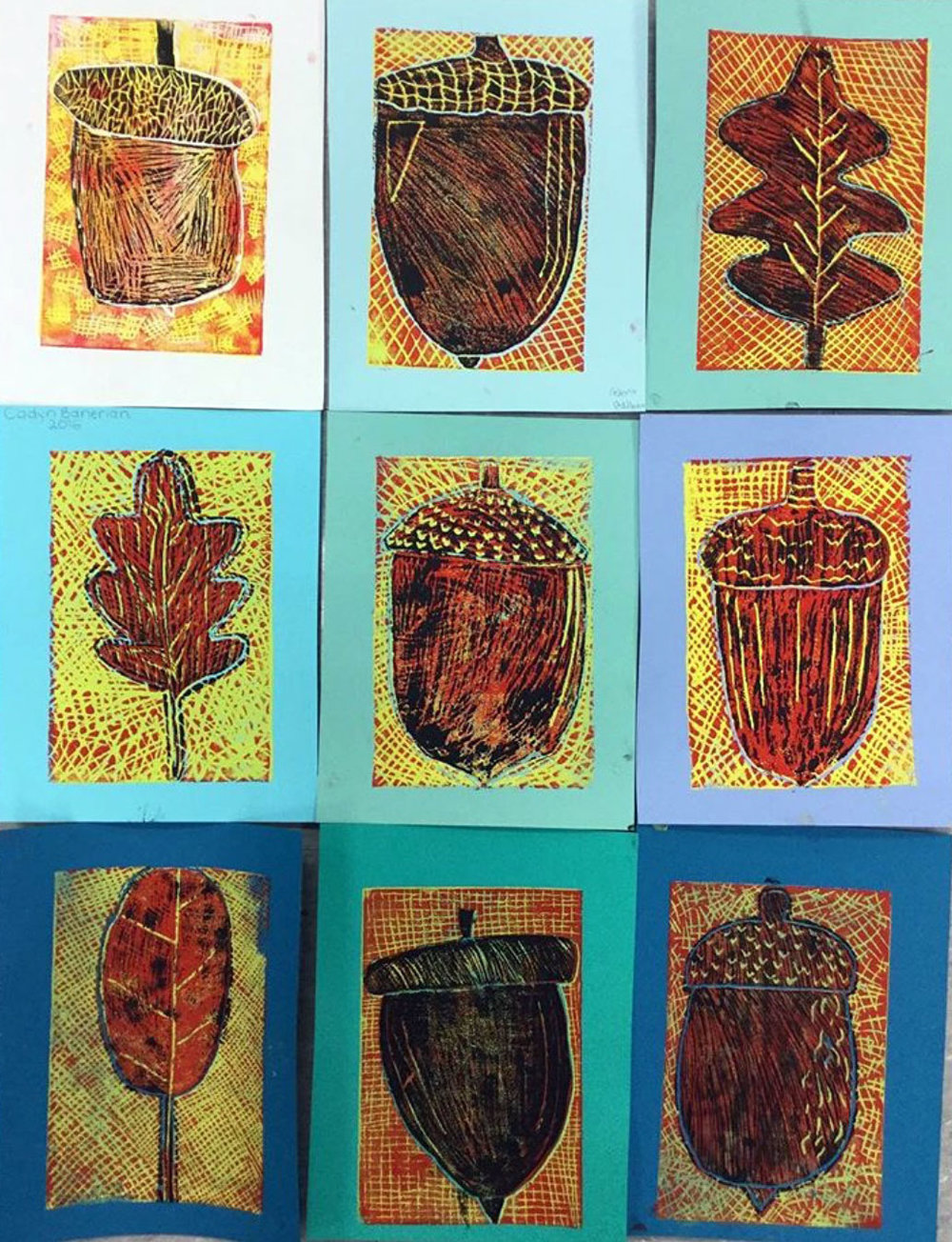 Reduction printing, fifth grade