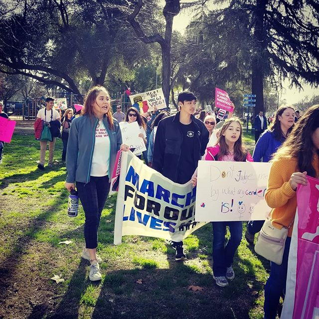 Women's March Modesto. Great celebration of successes for women at the ballot box. Don't just march, run for something!