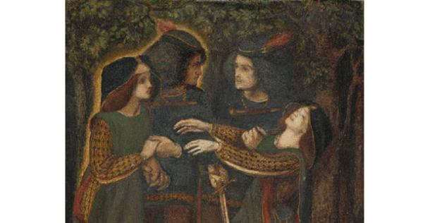 How They Met Themselves by Dante Gabriel Rossetti