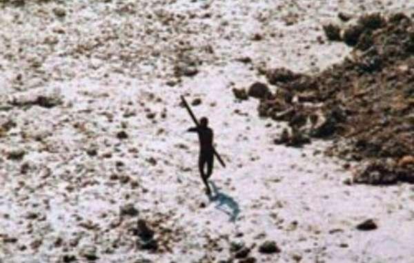 North Sentinelese Warrior Takes Aim