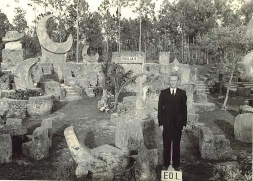 ED POSING AT ROCK GATE, DATE UNKNOWN