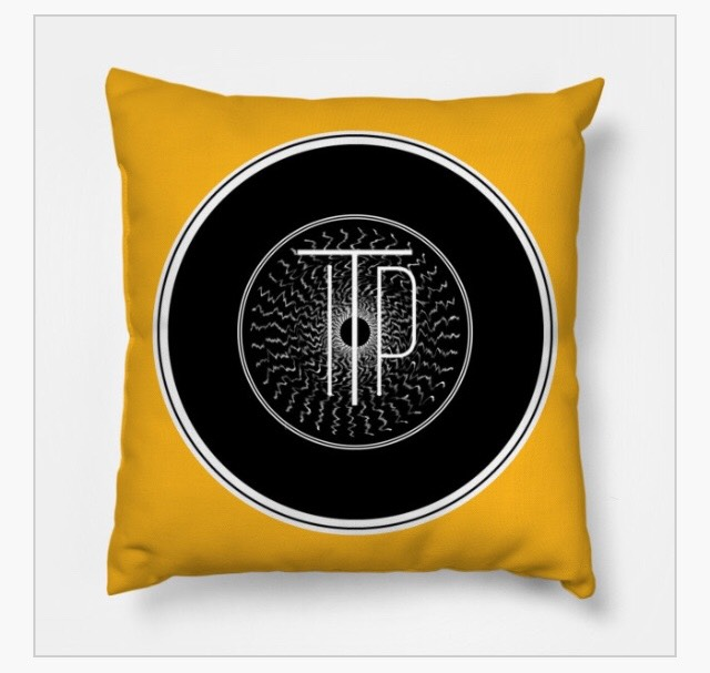 INTO THE PORTAL RECORD ICON PILLOW