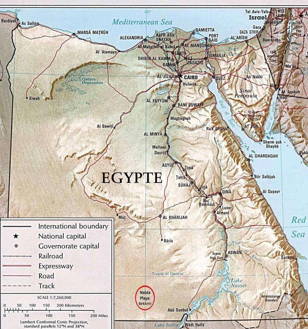 REFERENCE MAP OF EGYPTIAN OASES